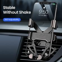 Автомобильный держатель для телефона DIVI Gravity, крепление на вентиляционное отверстие для samsung huawei xiaomi, iPhone 11 X Xs Max, xiaomi, подставка для телефона