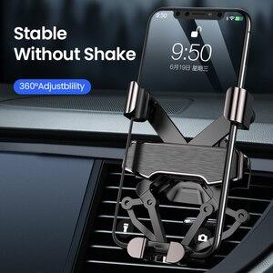 Image 1 - DIVI Schwerkraft Auto Telefon Halter für Samsung huawei xiaomi Auto Air Vent Clip Halterung Für iPhone 11 X Xs Max xiaomi auto Telefon Stehen