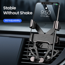 DIVI الجاذبية حامل هاتف السيارة لسامسونج هواوي شاومي سيارة الهواء تنفيس كليب جبل آيفون 11 X Xs ماكس شاومي سيارة حامل الهاتف