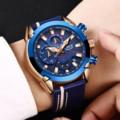 2019 модные синие Для мужчин часы LIGE Топ Элитный бренд наручные часы  для мужчин  Повседневное кожа Водонепроницаемый спортивные кварцевые ча...