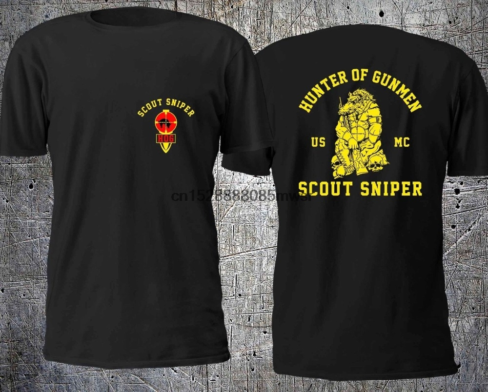 NEW HUNTER OF GUNMEN SCOUT SNIPER <font><b>USMC</b></font> <font><b>T</b></font> <font><b>SHIRT</b></font> SIZE S-4XL <font><b>T</b></font> <font><b>Shirt</b></font> Casual Men Clothing image
