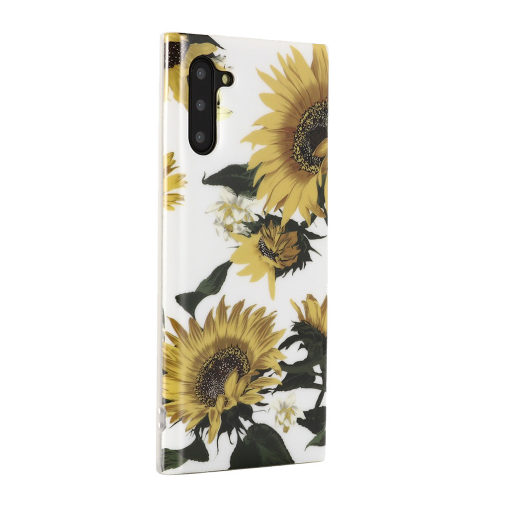 Flowers Painted Back Protective Phone Case For Samsung Galaxy Note 10 Ultra Slim Fit Soft TPU Phone Case Anti-Scratch Phone Bag