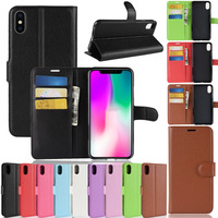100pcs Leather Cases For iPhone X XR XS MAX 8 7 6 6S Plus Luxury Flip Fundas Cased For iPhone 5 4 Touch 6/5 Holster Case Wholesa