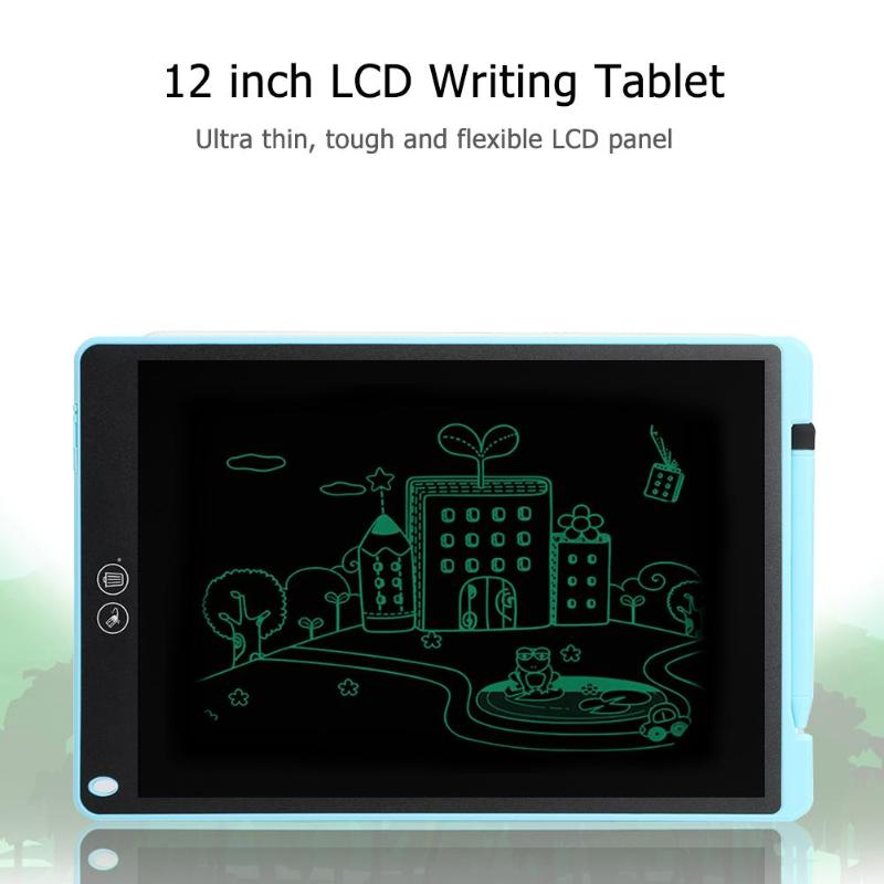 12 אינץ LCD כתיבת Tablet Pad סופר לוח עם חלקי למחוק פונקצית תמיכת Dropshipping