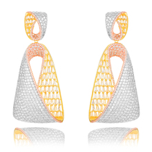 Siscathy Luxury Full Mirco Paved Cubic Zirconia Geometry Earrings Naija indian Dubai Wedding Earring 2019 Hot Fashion Jewelry цена