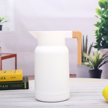 1L Large Household Hot Water Pot Kettle Glass Vacuum Flasks Insulation Thermos Office Coffee Thermal Warmer Bottles Double Wall 5