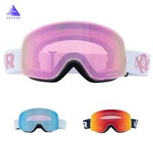 Otg óculos de esqui snowboard máscara para homem mulher óculos de esqui cilíndrico uv400 proteção de neve sobre óculos para adulto rosto pequeno