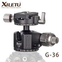 XILETU G-36 trépied rotule 360 degrés Double panoramique w plaque de location rapide pour Canon Nikon Sony DSLR reflex appareils photo monopode