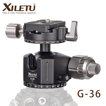 XILETU G-36 Tripod Ball Head 360 Degree Double Panoramic w Quick Rlease Plate For Canon Nikon Sony DSLR SLRS Cameras Monopod st 360 panoramic 360 degree vertical pro gimbal tripod head 1 4 inch screw for dslr camera telephoto lens quick release plate