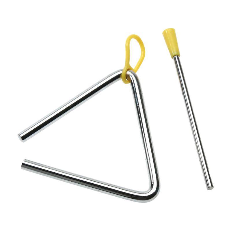 NEW-Children Toy Musical Instrument Rhythm Band Triangles Angle Iron Educational Preschool