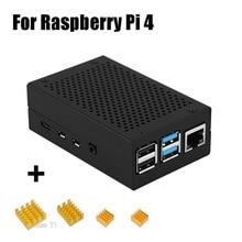 Última carcasa de aluminio con disipador de calor para Raspberry Pi 4 Modelo B