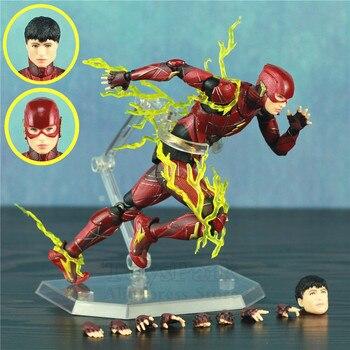 "The Flash Barry Allen 6"" Action Figure Ezra Miller Movie Flashpoint KO's Mafex 058 Justice League 2 Dcomics Toys Doll"