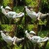 Criativo bonito resina deitado menino casual menina estátua jardim pendurar na árvore pingente decorativo decoração interior ao ar livre ornamento