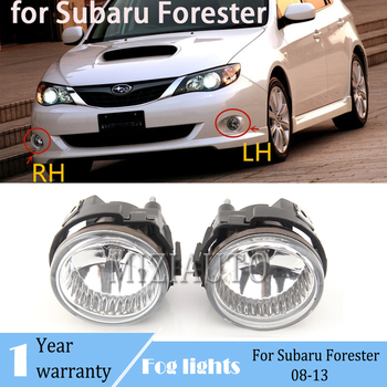 LED Front Bumper driving Fog Lights For Subaru Forester 08-13 for Impreza WRX STI 08-10 Halogen foglight With bulb headlights image