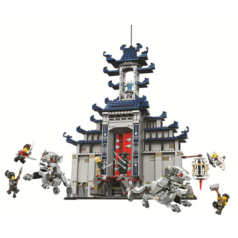 Ninjagoed Series Temple Of The Ultimate Weapon Building Blocks Sets Kit Bricks Classic Ninja Movie Model Kids Toys For Children