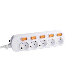 Image 5 - European Extension Socket Individual Control 2/3/4/5/6AC EU PLUG Outlet Slot 250V 16A Surge Protection Power Strip 1.5/2.5M
