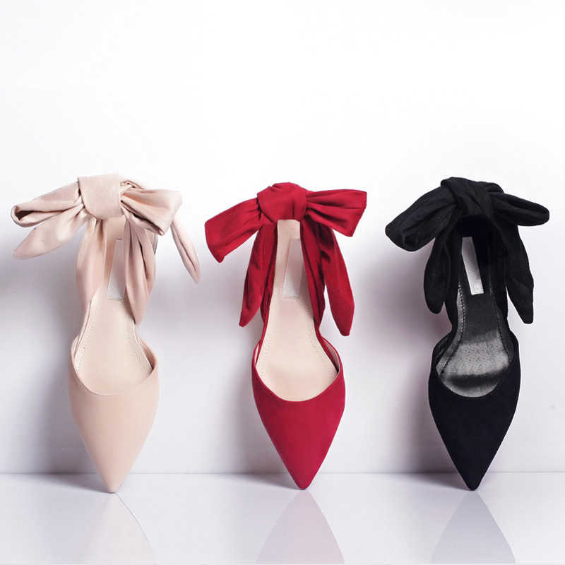 Baru Menunjuk Toe Sandal Wanita Cross-Tied Kupu Kupu-kupu Musim Panas Sepatu Wanita Zapatos Mujer Novia Tali Pergelangan Kaki Datar sepatu Wanita