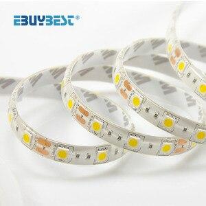 Светодиодный ленточный светильник RGB 5050 SMD 2835 водонепроницаемая гибкая лента DC 12V 5M RGB ленточный светодиодный светильник s полоски для настол...