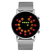 The Best Selling 2020 Fashion Men #8217 s Led Digital Watches Stainless Steel Waterproof Sports Watches Mens Electronic Watches Clock cheap WoMaGe 23 5cm No waterproof Fashion Casual Buckle ROUND 20mm Glass Back Light No package 40mm led002 wrist watches fashion casual popular sports binary