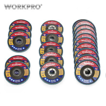 WORKPRO 20PC Flap Discs Sanding Set Multi Grit Disc For Angle Grinder