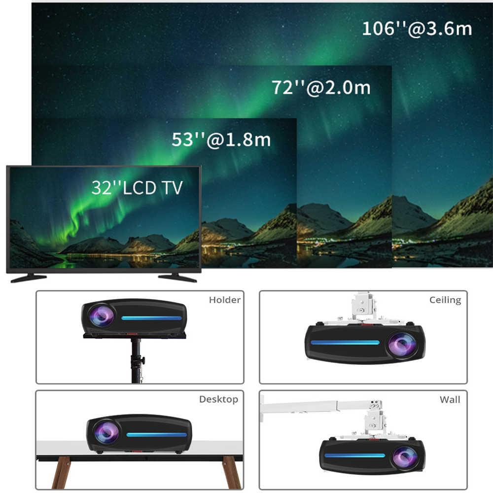 Vivicine S2 Terbaru 1080 P Proyektor, pilihan 9.0 HDMI USB PC 1920X1080 Full HD LED Home Theater Proyektor Video Projector