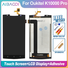 AiBaoQi New Original 5.5 inch Touch Screen+1920x1080 LCD Display Assembly Replacement For Oukitel K10000 Pro Android 7.0 Phone