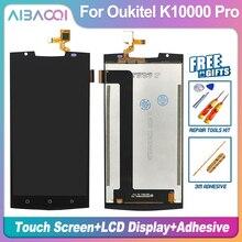 Aibaoqi novo original 5.5 polegada de tela toque + 1920x1080 lcd assembléia substituição para oukitel k10000 pro android 7.0 telefone