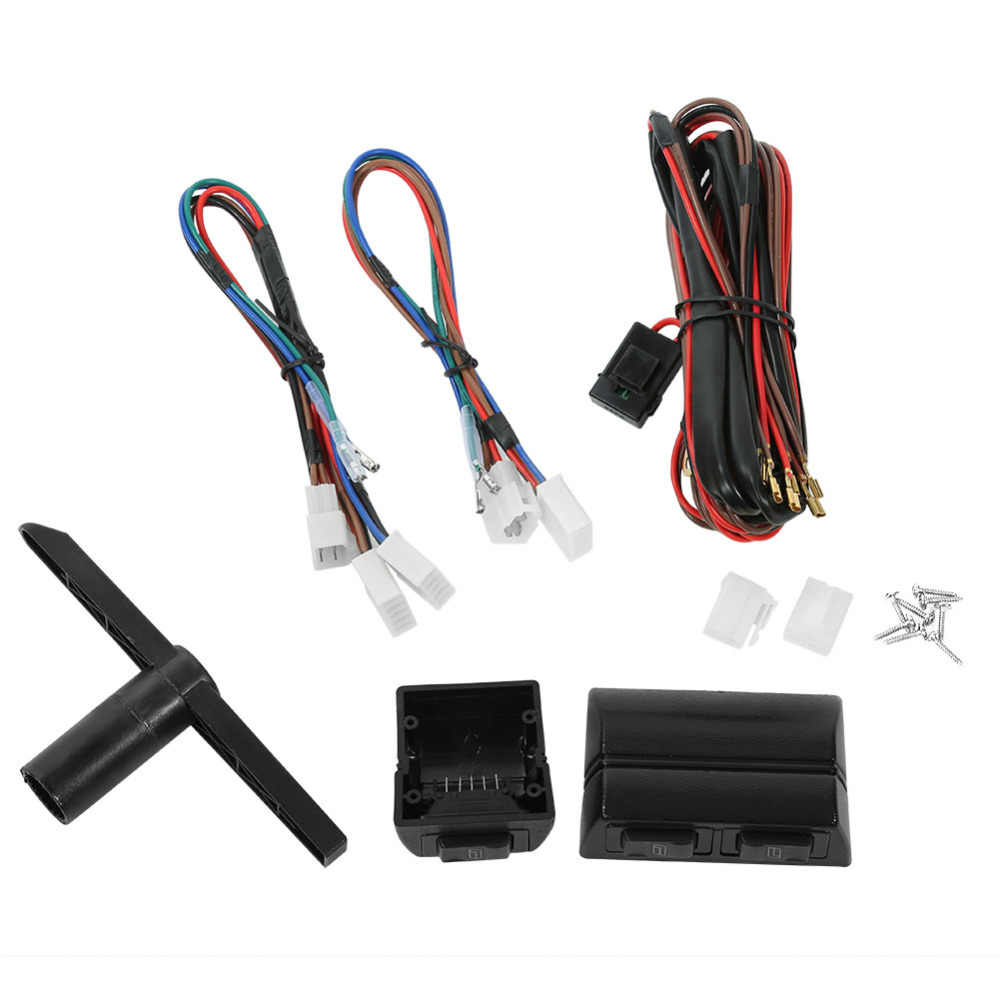 12V Auto Elektrische Power Fensterheber Regler Conversion Kit für 2 Tür Auto Lkw SUV Universal Auto Zubehör