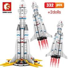 を千房けん輔322個互換市キャリアロケットテクニック宇宙飛行士を放浪地球のビルディングブロックのおもちゃ男の子