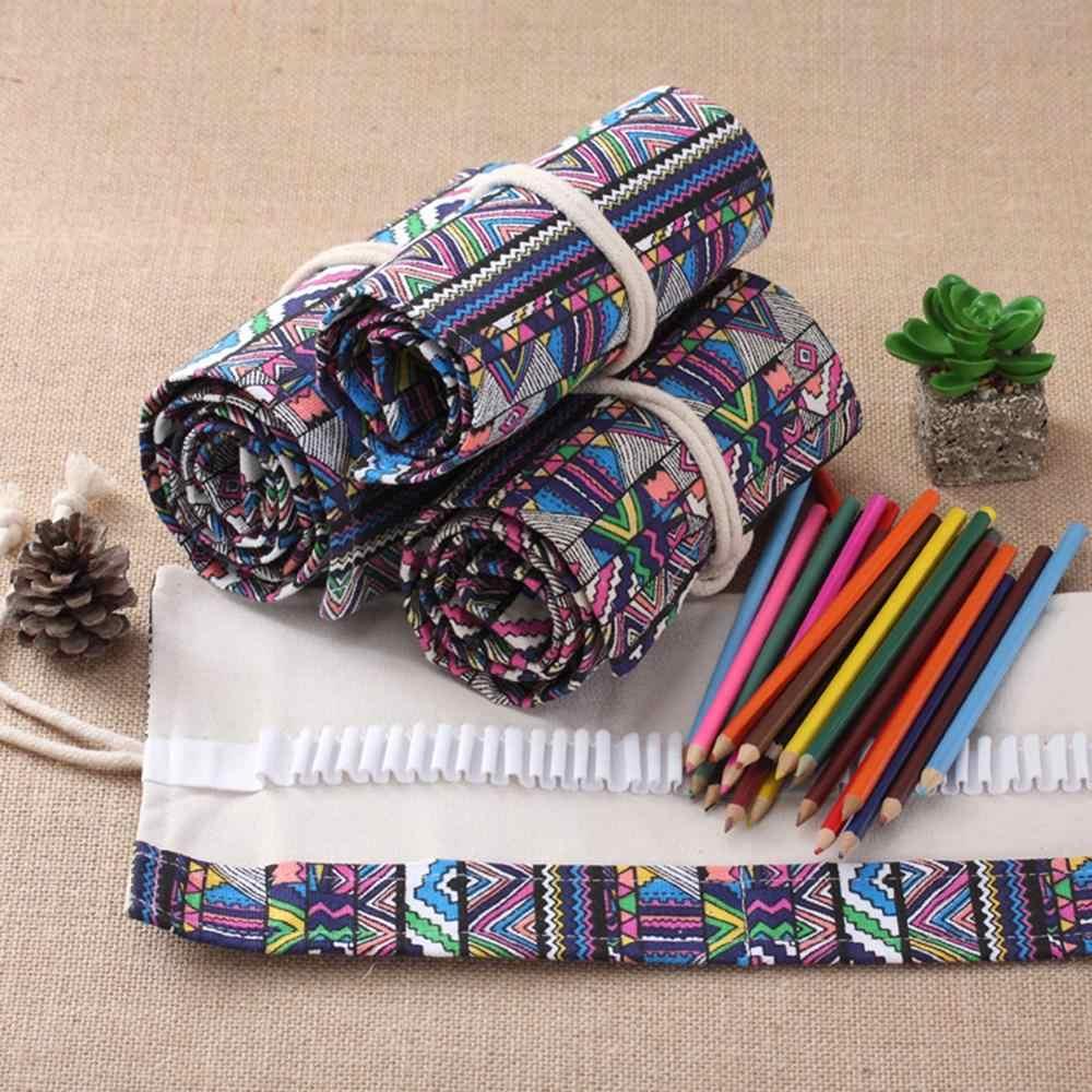 36/48/72/108 Buracos Saco do Lápis Escola Papelaria Pencilcase Pen Holder Pouch