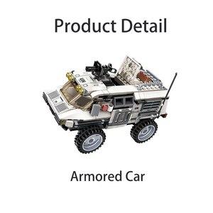 Image 3 - 298PCS Military Car Vehicle Weapon Sets Building Blocks WW2 Army Panzer Chinoook Brick DIY Toy Children Boy Gift