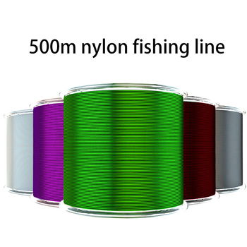 500m Nylon Fishing Line fly fishing monofilament fishing line fly line camo line super strong nylon fishing line ocean maximumcatch 100ft 4 8wt weight forward floating fly line with sinking tip double color fly fishing line