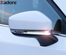 Хромированная Автомобильная накладка на зеркало заднего вида, украшение для рамки, аксессуары для форм-форм, для Mazda, CX5, KF, CX-5, CX8, 2017-2019, 2020