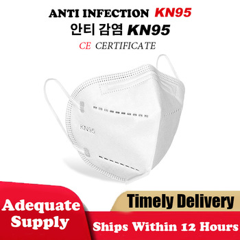 KN95 Safety Flu Protective Mask N95 Masks ffp2 Particulate Respirator 5 Layers Mask Bacteria proof Anti Infection Anti PM2.5