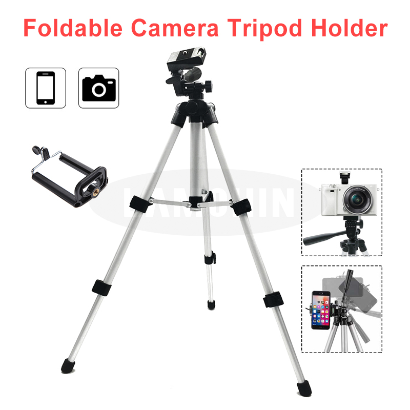 Universal Tripod Camera Holder Portable Phone Holder Level 4 Section Professional SLR Camera Tripod Aluminum Photography