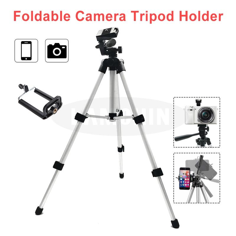 Universal Tripod Camera Holder Portable Phone Holder Level 4 Section Professional SLR Camera Tripod Aluminum Photography