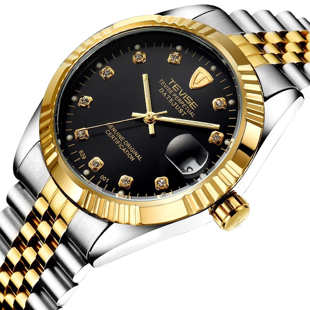 TEVISE мужские фирменные часы Модные Роскошные наручные часы водонепроницаемые полуавтоматические механические часы светящиеся Спортивные Повседневные часы