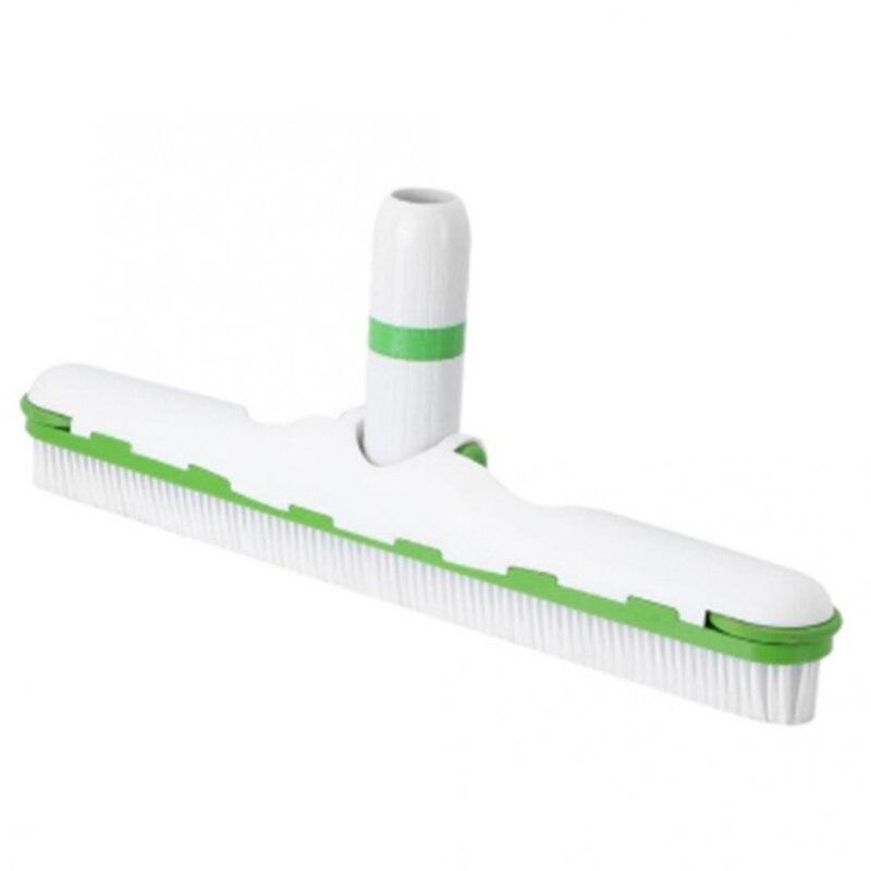Ev ve Bahçe'ten Temizleme Araçları'de Yüzme havuzu fırça havuz zemin duvar temizleme aracı havuzu süpürge yosun temizleyici Scrubber kaplıca havuzları temizleme fırçası tekerlekler ile title=