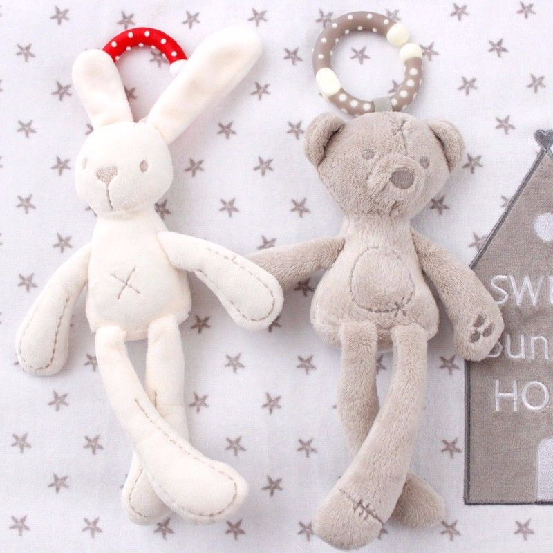 Lovely Soft Bunny Teddy Bear Plush Toys Stuffed Animals Doll For Baby Kids Developmental Educational Baby Early Learning Toys