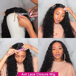 Image 5 - YYong 1x6 Topline Lace и 4x4 малазийский парик на сетке с водной волной предварительно выщипанный с детскими волосами Remy HD прозрачный парик из человеческих волос