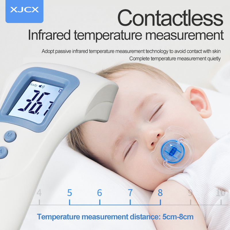 Digital Display Forehead Thermometer Non Contact Infrared Thermometer Body Temperature Fever Digital Measure Tool USB Charging