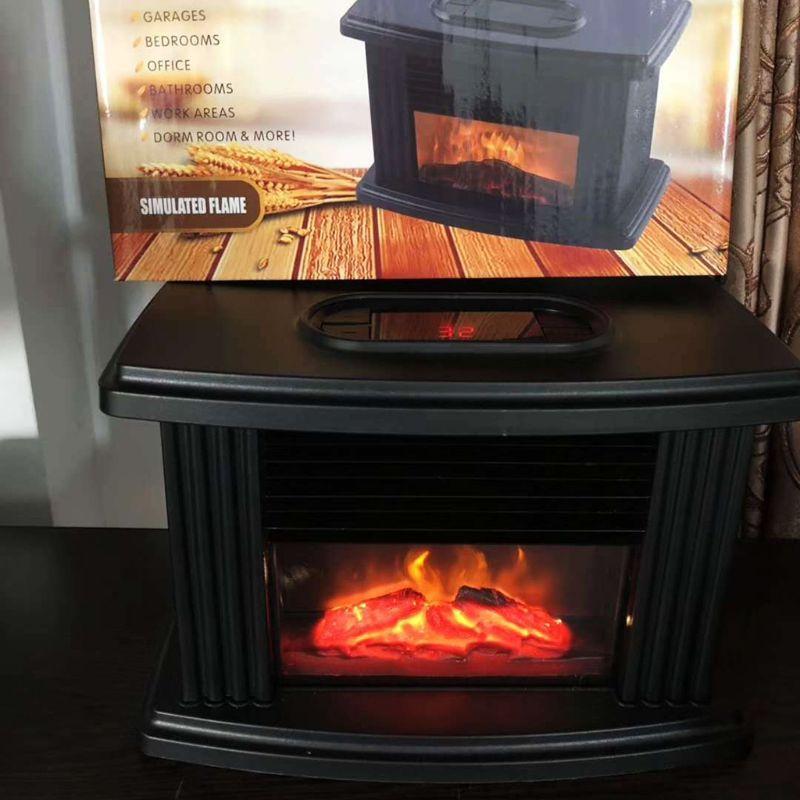 Household Mini Ceramic Space Heater Fireplace Heater Warm Fan Hot Air Heaters 19QE