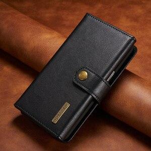 Чехол-книжка из натуральной кожи в три сложения для samsung Galaxy S10, S8, S9 Plus, Note 10, 8, 9, 360, Защитная сумка для хранения, чехол для телефона