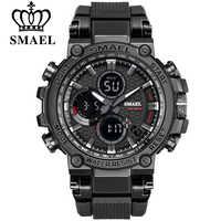 SMEAL Männer Sport Uhren Digitale Doppel Zeit Chronograph Uhr Herren LED Chronometre Woche Display Armbanduhren montre homme Stunde