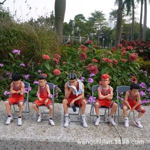 17 CM Chair SLAM DUNK Figures Sakuragi Hanamichi PVC Action Figures Rukawa Kaede Akagi Takenori Mitsui Hisashi Model Toys