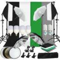 33063603671 - ZUOCHEN estudio fotográfico LED Softbox paraguas con iluminación Kit Fondo soporte telón de fondo