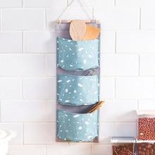 Multifunction Hanging Storage Bag Waterproof Coating Wall Pouch Sundries Cosmetic Bags Large Capacity Wardrobe Organizer