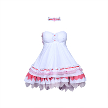Anime Kasugano Sora Yosuga no Sora Cosplay Summer Dress Pink Dress Kasugano Sora Cosplay Costume