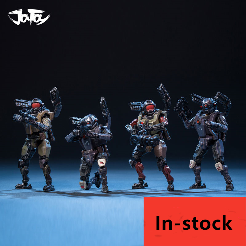 JOYTOY Military 1/25 7.6cm Soldiers Action Figure CYBORG CORPS (4PCS/Set) For Fans Holiday Gift New Box
