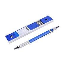 1 pièces 2mm plomb crayons mécaniques coque en métal dessin automatique dessin 2B crayon + 12 recharges de plomb fournitures de papeterie